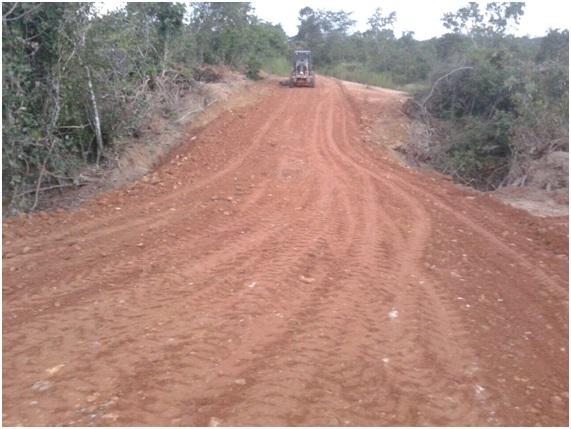 Recuperação da antiga estrada do Tesouro.