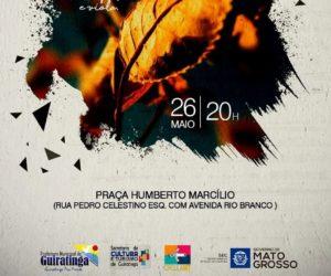 Trio do Mato com canto, prosa e viola no dia 26, na praça Humberto Marcílio