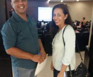 Guilhermina e Dailton participaram do Curso de Gestão Pública em Cuiabá.