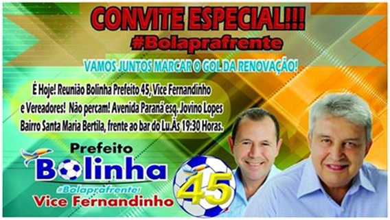 Bolinha e Fernandinho participaram da marcha de prefeitos e vereadores em Cuiabá