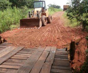 Secretaria executa Recuperação de Pontes, Estradas e Tapa Buracos na cidade