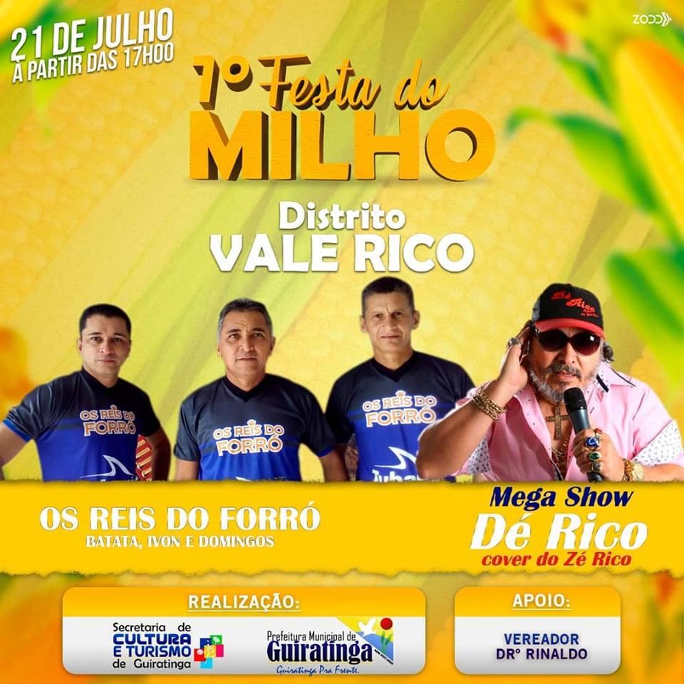 Vem aí a 1ª Festa do Milho, no distrito de Vale Rico