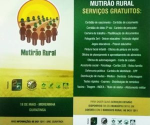 Vem ai o Mutirão Rural de Serviços gratuitos