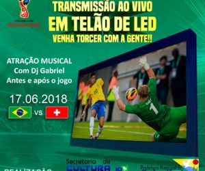 Transmissão ao vivo em telão de LED da estreia da seleção brasileira na copa do mundo