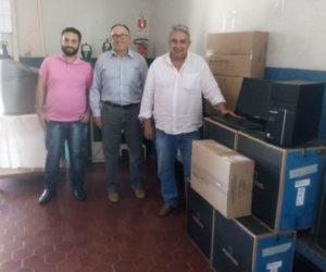 Secretaria de Saúde recebe 12 Computadores através de ação do Prefeito Bolinha