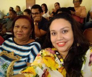 Secretária de educação Rosemeire e Débora técnica da Creche Municipal realizaram treinamento em Cuiabá