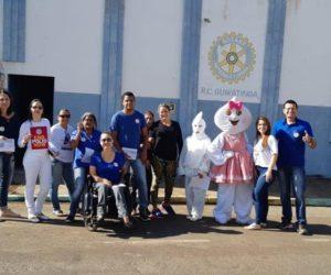 Secretaria de Saúde com apoio do Rotary Clube realizou o dia D da Campanha Nacional de Vacinação contra a Poliemielite e Sarampo