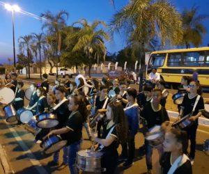 Fanfarra Municipal da Guarda Mirim realizou alvorada festiva nos festejos de Guiratinga